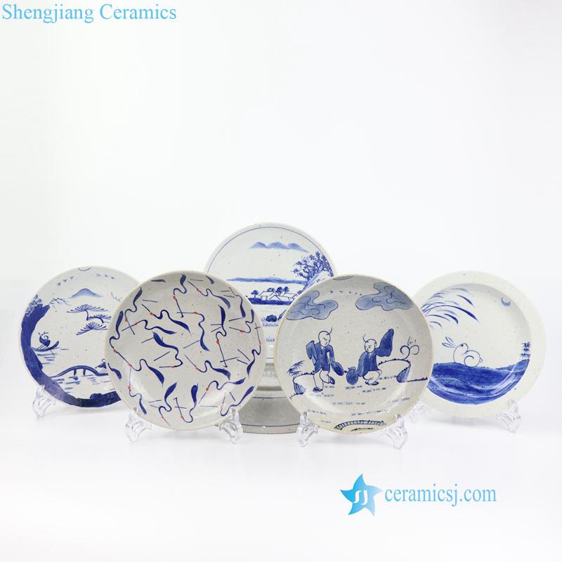 hand painted ceramic fruit plate