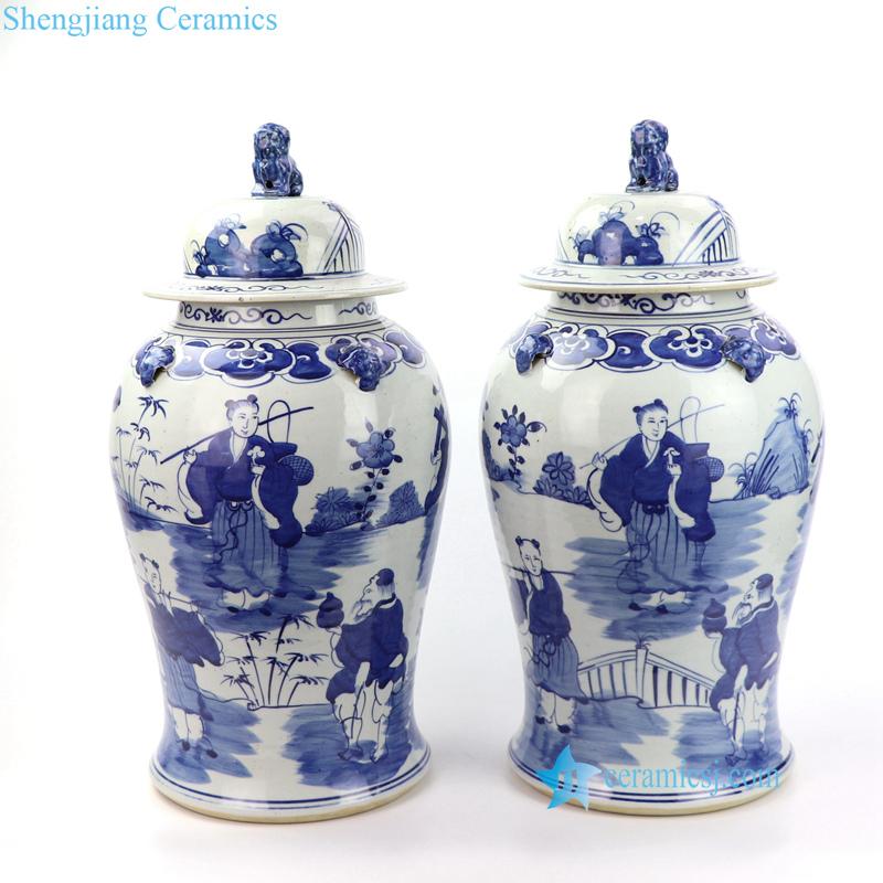 fairy China man porcelain jar