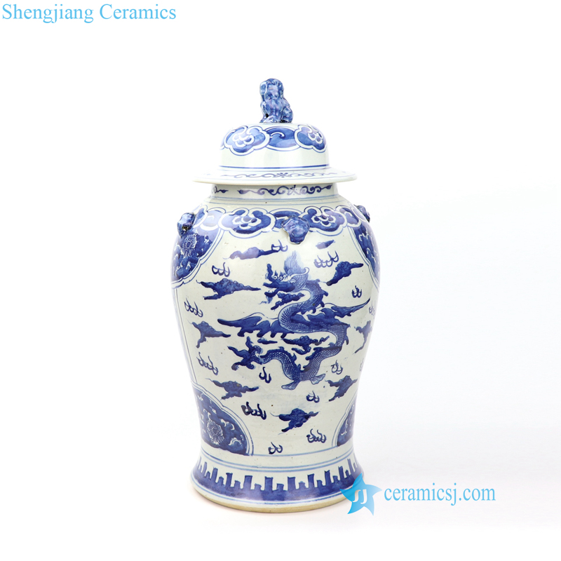 China fairy dragon porcelain jar