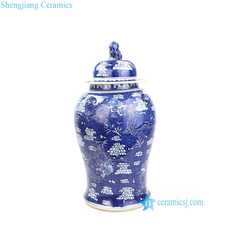 dragon porcelain temple jar