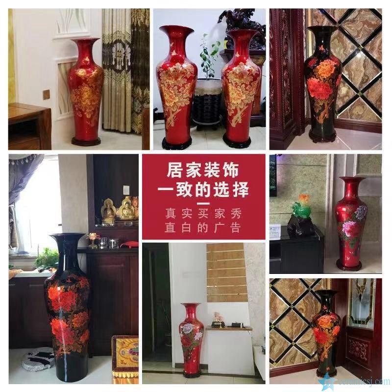crystal glaze ceramic big vase