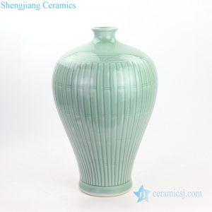 RYMA103 Bamboo grain celadon glaze ceramic vase