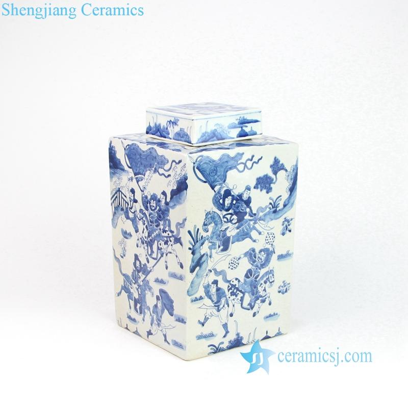jingdezhen hand paint square jar