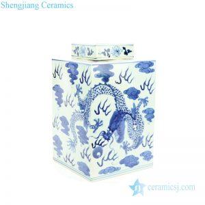 RYUK15-E Hand painted porcelain fire dragon box