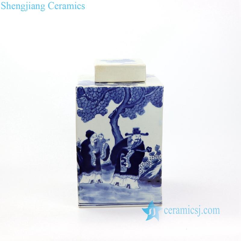 figure and tree pattern jar