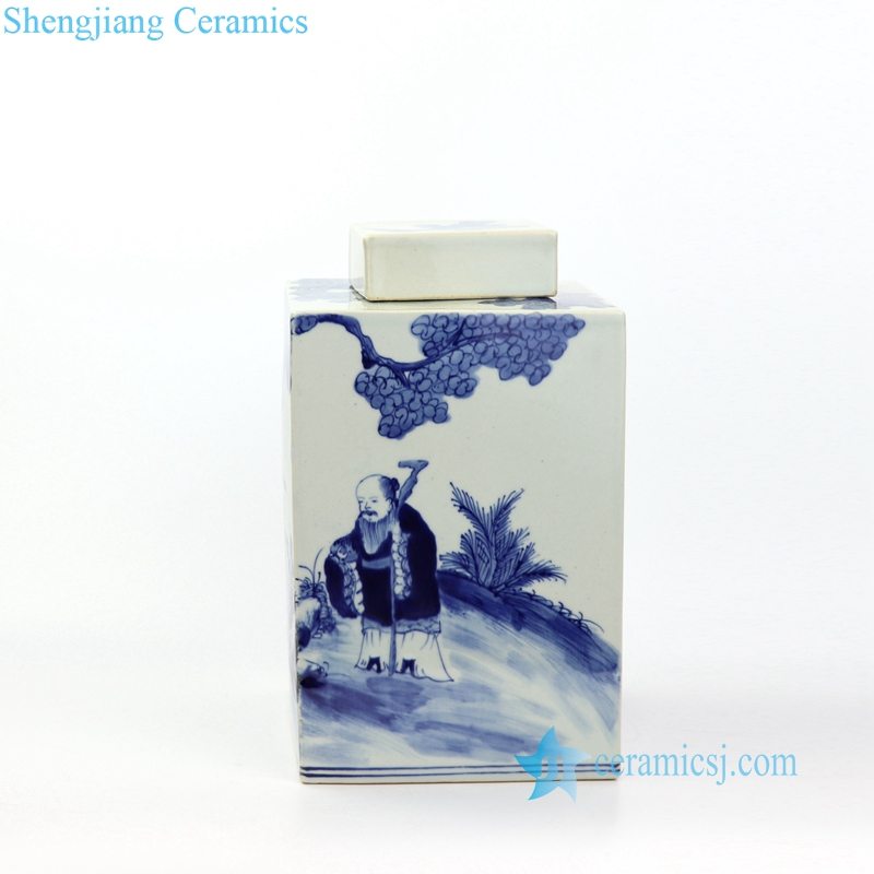 hand painting porcelain jar