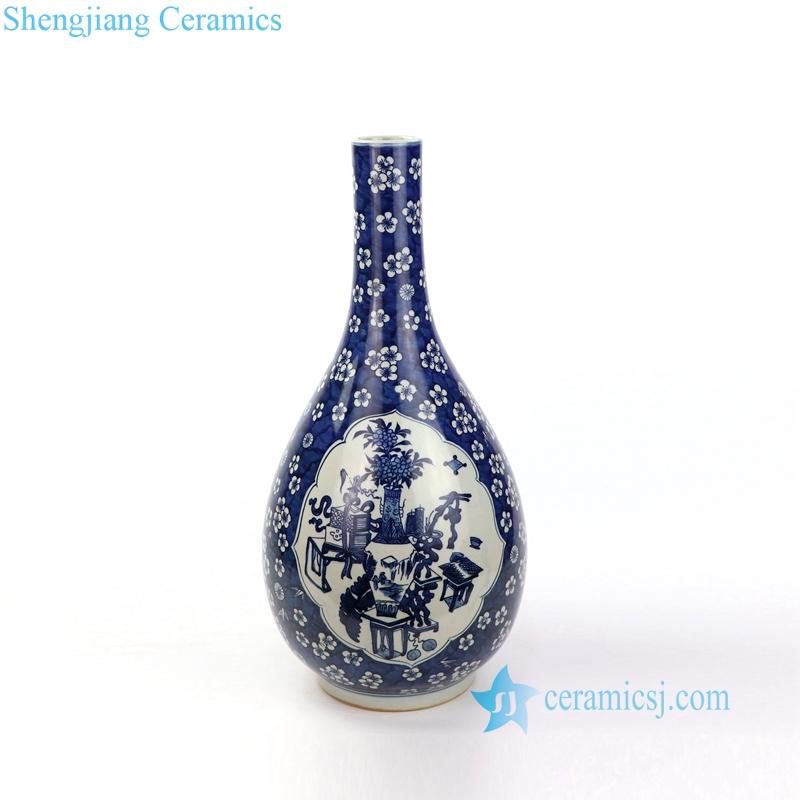 tree and flowers pattern porcelain vae
