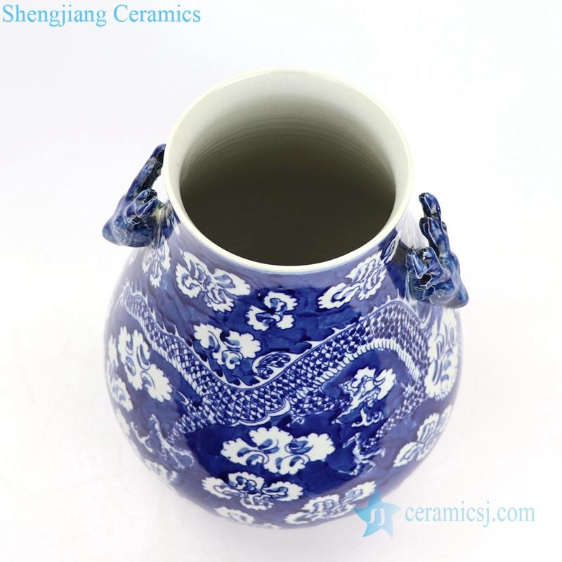 ceramic dragon vase