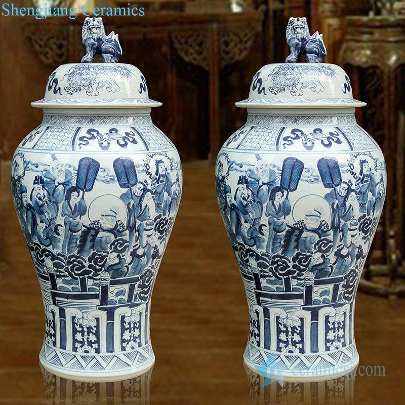 China fairy tale porcelain jar