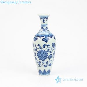 RZEV01-S Blue and white corn flower mini ceramic vase