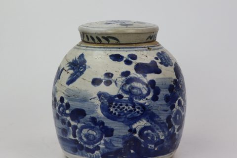 RZEY16-A Round body blue and white porcelain sealed jar with lid