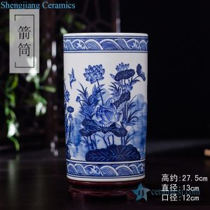 RZKD24 China style lotus ceramic umbrella stand