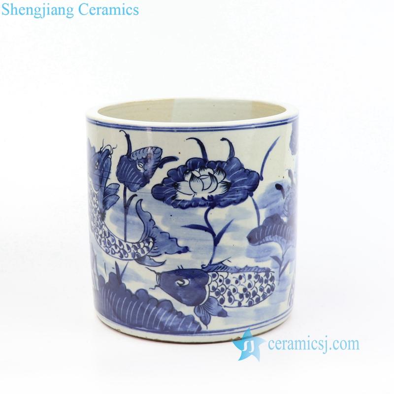 antique ceramic pen holder