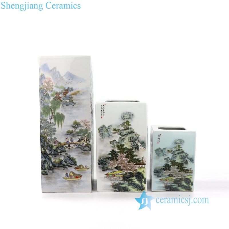 landscape porcelain vase