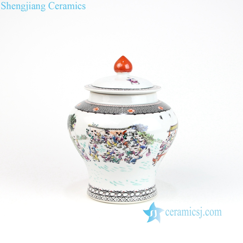 hundreds children ceramic jar