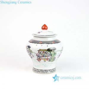 RZOR02 Colorful hundreds children ceramic tea jar