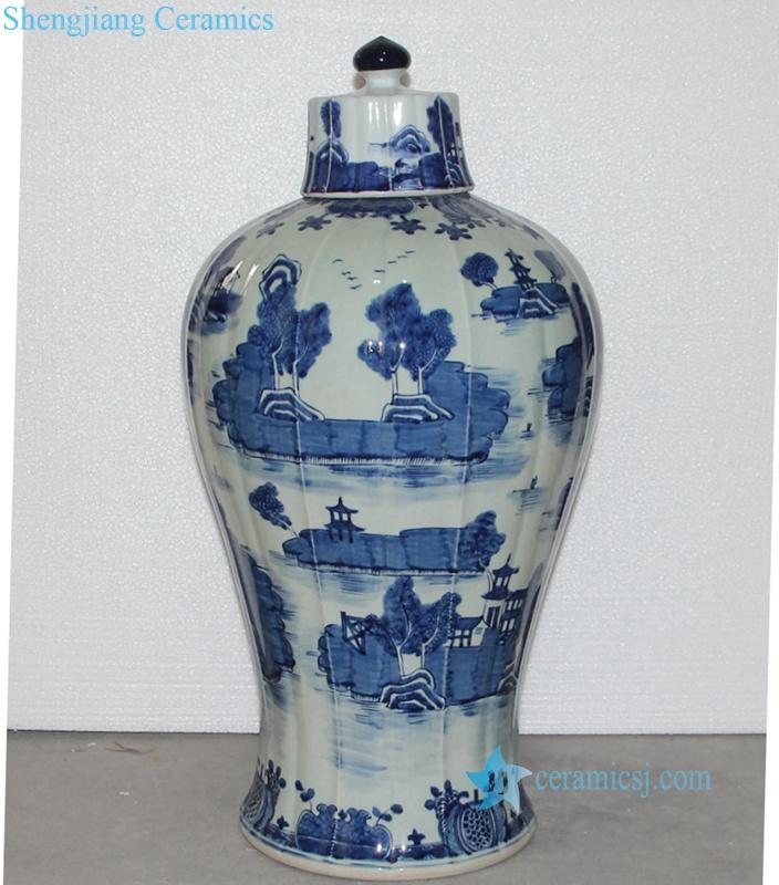 China water town porcelain jar