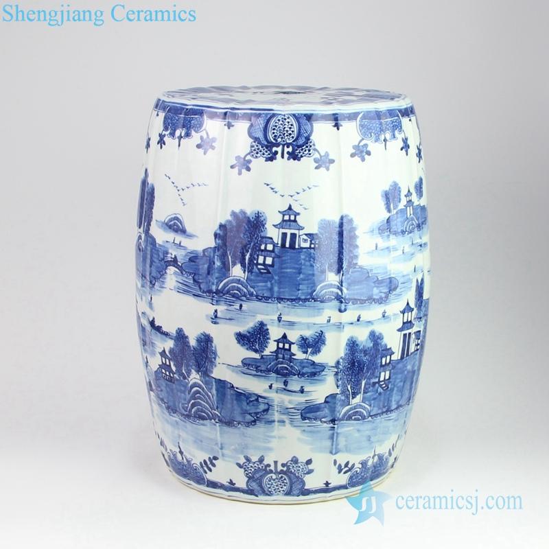 water town porcelain stool