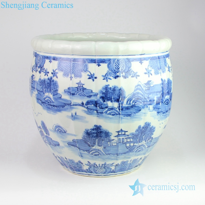 China reigon with river in dream porcelain pot