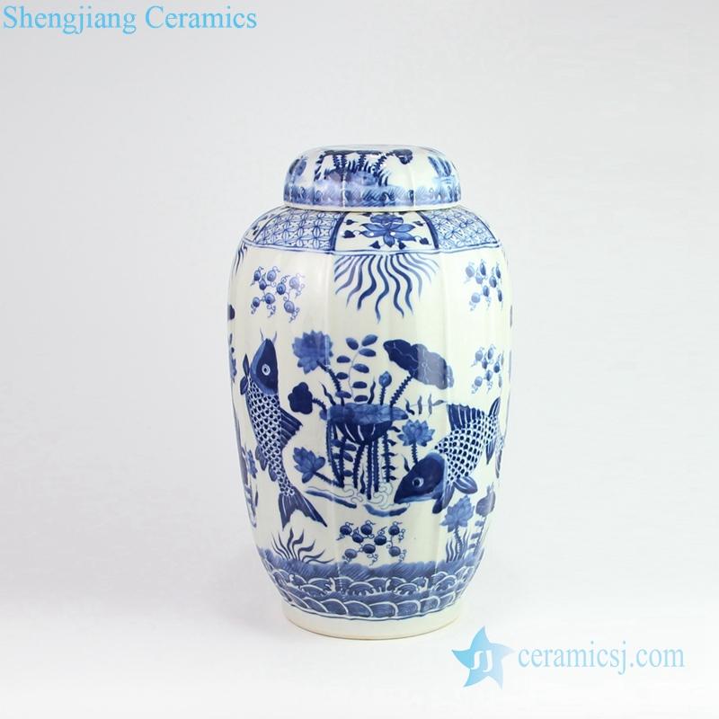carp porcelain jar