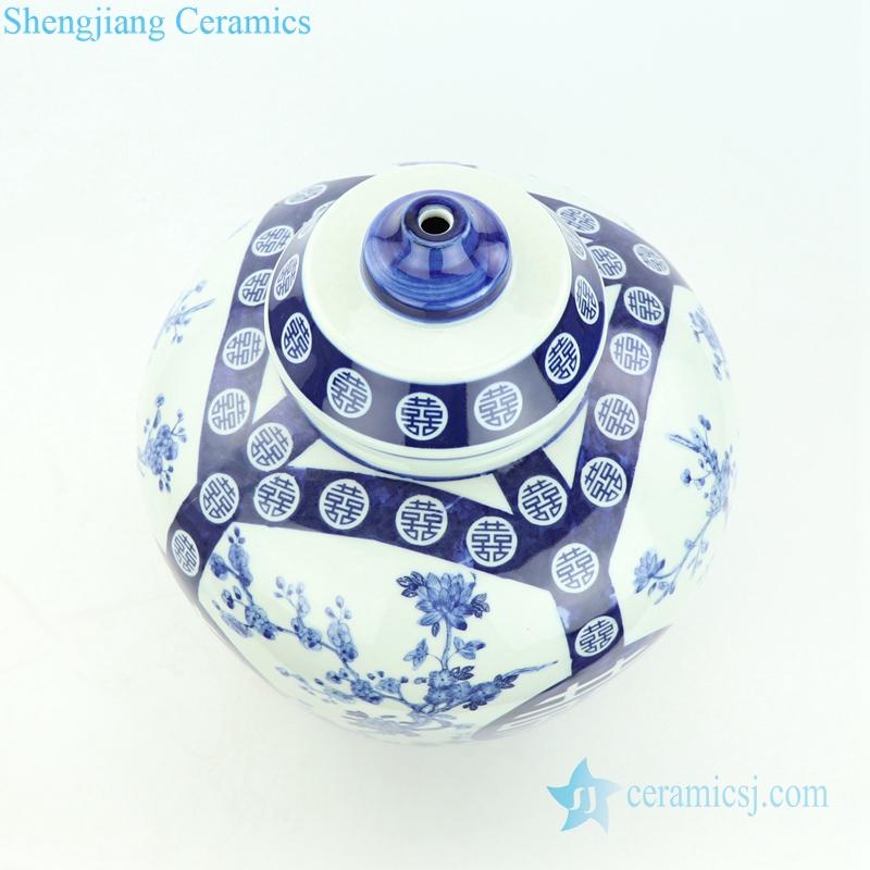 double happy porcelain lamp
