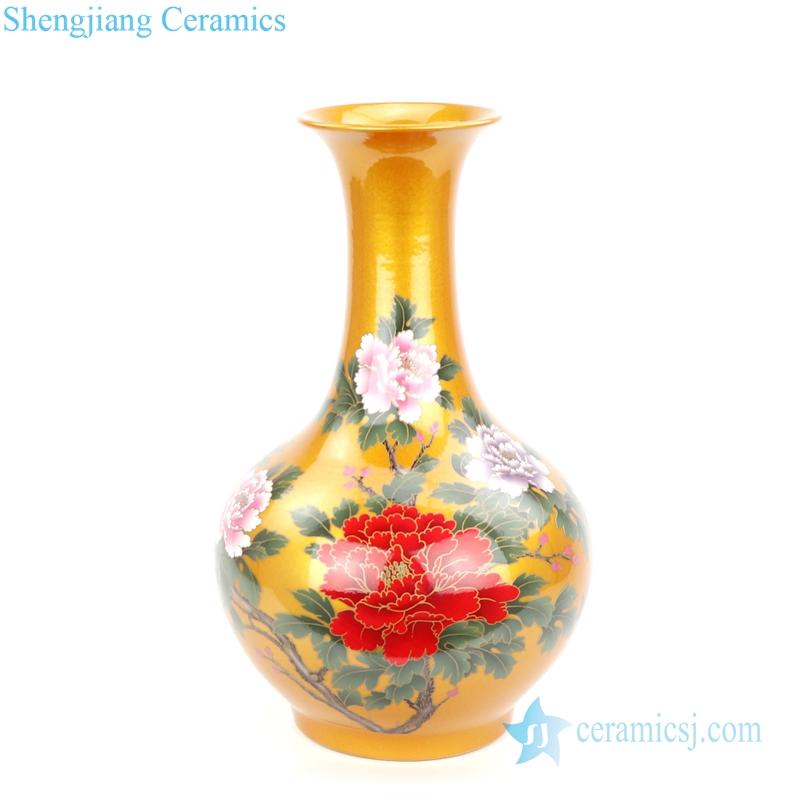 mellow yellow porcelain vase