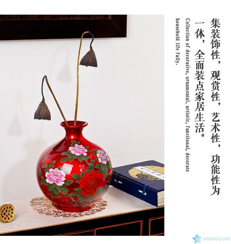 golden powder ceramic vase
