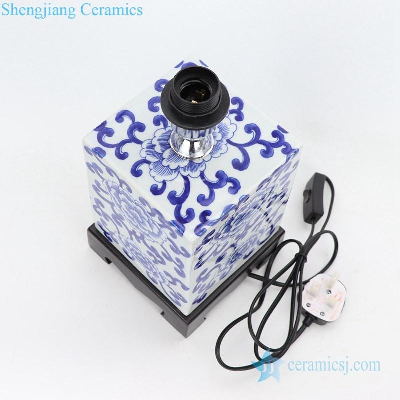 four sides ceramic lamp