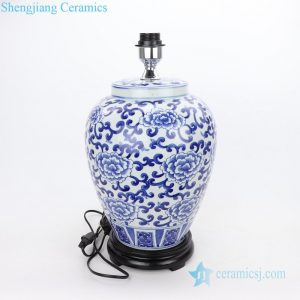 DS-RYLU182 Jingdezhen hand craft floral design ceramic floor lamp