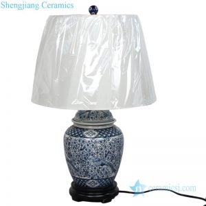 DS-RYPU15-D Chinese ancient style bird design ceramic lamp