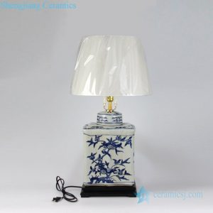 DS-RYQQ55 Four sides special bird and tree design ceramic lamp