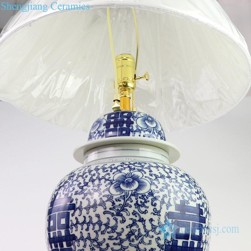 chinese style ceramic lamp
