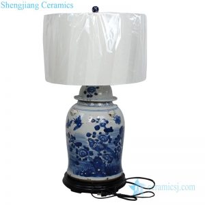 DS-RZEY12-B Antique high temperature fired valuable decorative ceramic lamp