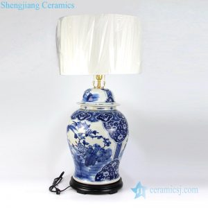 DS-RZKM01-A Chinese classical household tabletop decorative ceramic lamp
