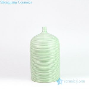 DS-RZMS07 Jingdezhen high quality light green stripe design porcelain lamp
