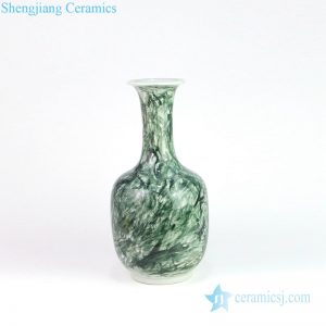 DS-RZMS08 Advanced free hand drawing deep green ceramic lamp