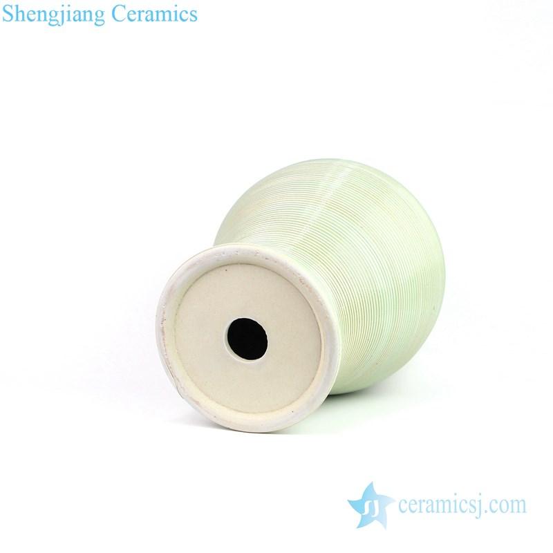 ginger jar shape green ceramic lamp