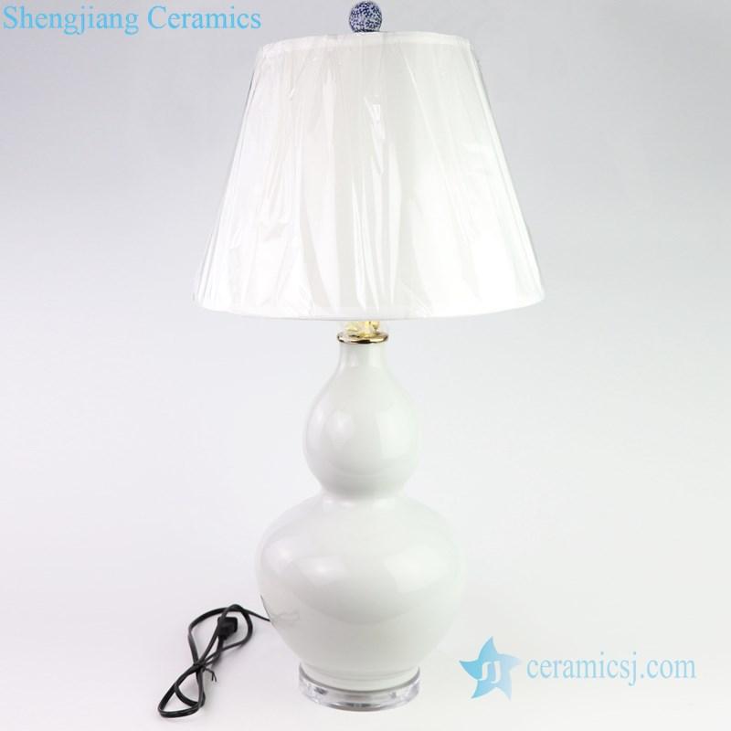 traditional white ceramic lamp