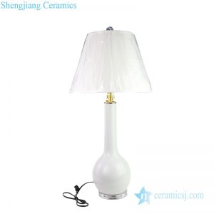 DS-RZMS15 Bedroom long neck vase shape ceramic lamp