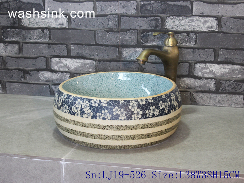 simple style ceramic wash basin