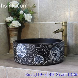 LJ19-x149 Exquisite hand drawing creative pattern ceramic art sink