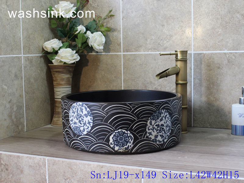 column ceramic wash sink