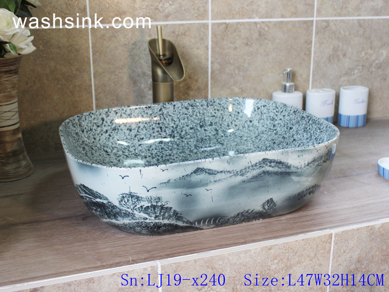 marble color wash basin