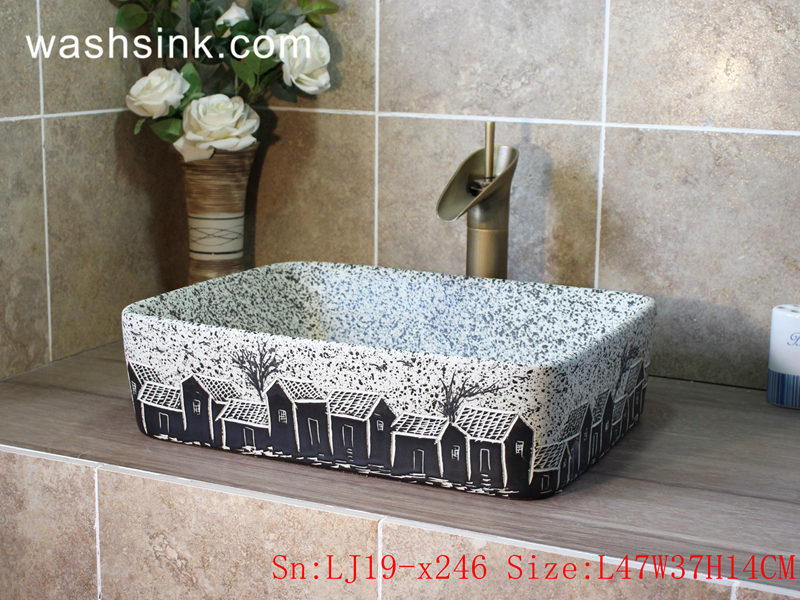 rectangle ceramic wash basin