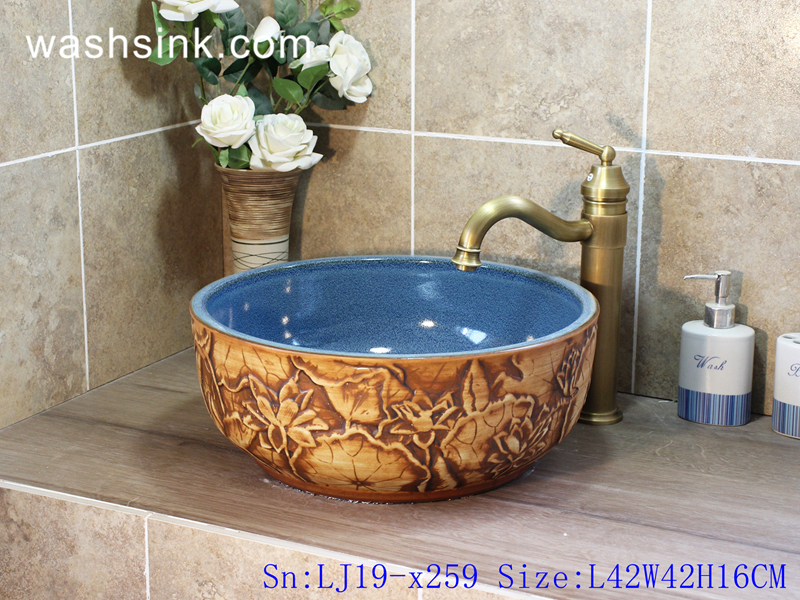 lotus design wash basin