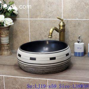 LJ19-x59 Europe style artwork mix color ceramic wash sink