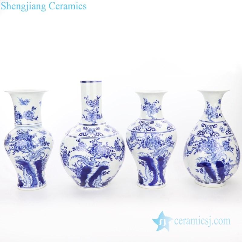 artistic blue and white porcelain vase