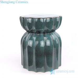 RYIR111-B Jingdezhen lotus shaped flambe ceramic garden stool