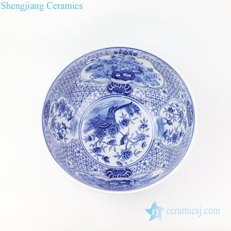 floral design ceramic fish bowl