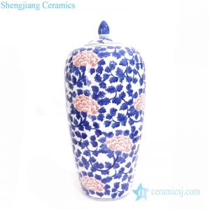 RYLU164  Shengjiang ancient wax gourd shaped ceramic jar